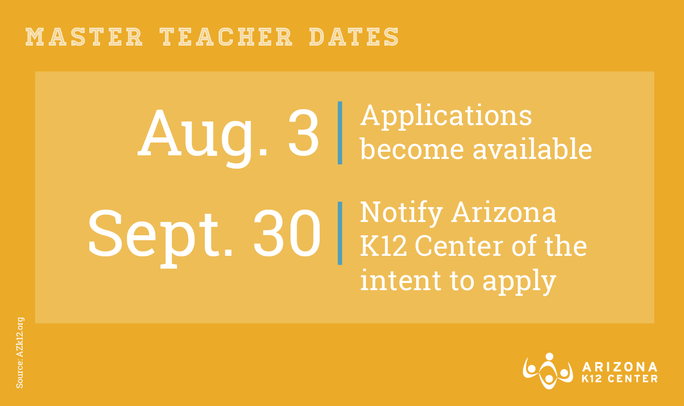 Don't Miss Your Next Opportunity to Be a Master Teacher