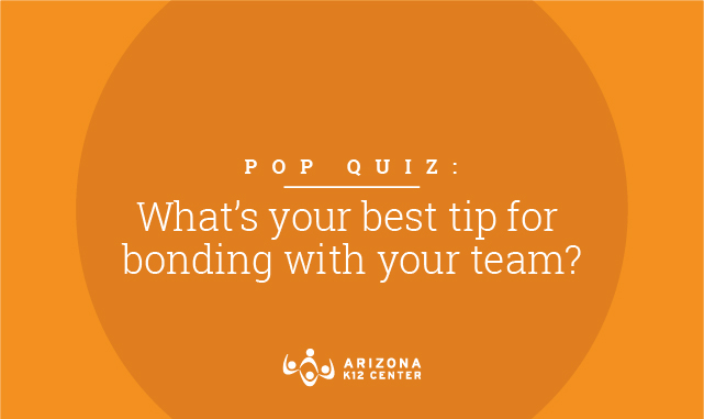 What's your best tip for bonding with your level/team?